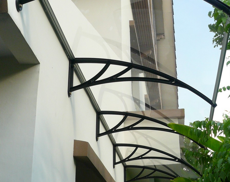 Tinted Acrylic Awnings are easy-care polycarbonate products. They enhance the aesthetic appeal of a property and offer years of low maintenance and energy-saving use. Ideal for DIY enthusiasts, the polycarbonate awnings are available in clear, bronze and aluminium- coloured boards to suit individual design needs. They come with engineered PVC brackets or Powder Coated Aluminium Brackets.