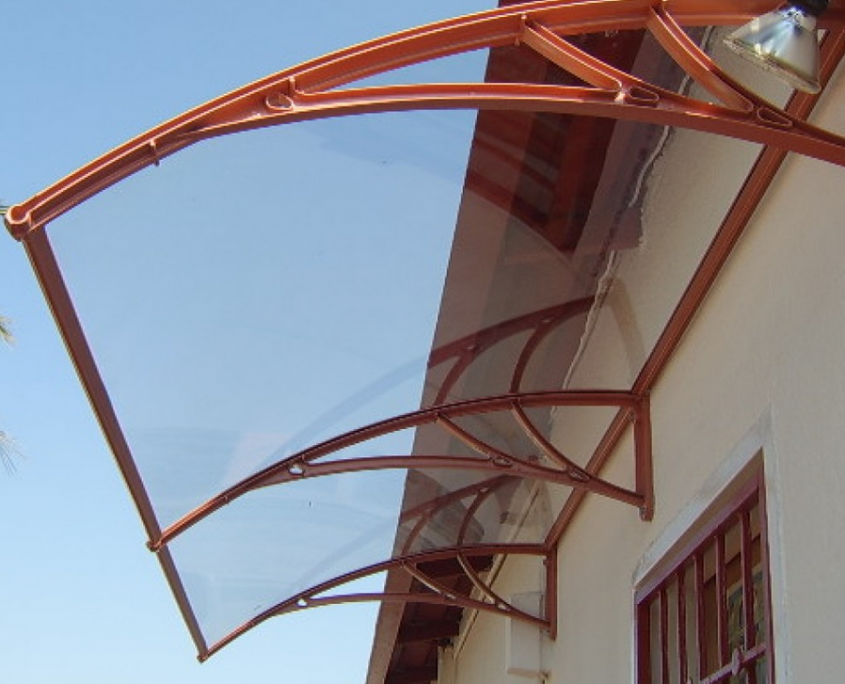 Acrylic awnings are available in different finishes and styles. The Reboss awning factory outlet also offers a barrel vault or domed awning range that is custom-made to client requirements. The attractive curved-shaped domes are popular covers for larger outdoor living spaces and are available in clear or tinted acrylic.