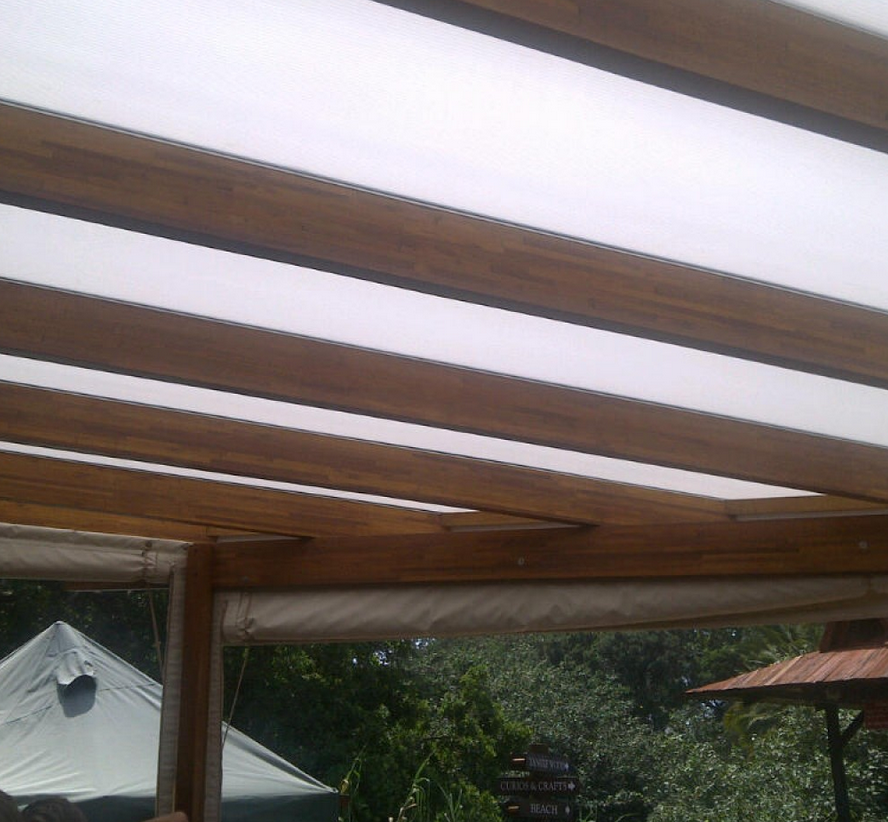 Polycarbonate awnings are perfect for both home and business use.